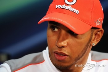 Lewis Hamilton, McLaren Mercedes in the FIA Press Conference