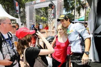 Lucas di Grassi, at the Fanzone