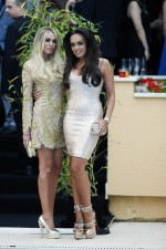 Petra Ecclestone, and Tamara Ecclestone, at the Amber Lounge Fashion Show