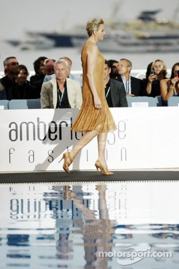 Princess Charlene of Monaco at the Amber Lounge Fashion Show