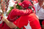 Victory circle: race winner Dario Franchitti, Target Chip Ganassi Racing Honda celebrates with his dad