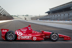 Winners photoshoot: the 2012 Indy 500 winning car of Dario Franchitti, Target Chip Ganassi Racing Honda