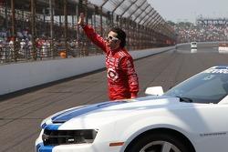 Race winner Dario Franchitti, Target Chip Ganassi Racing Honda