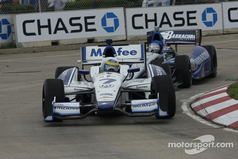 Sébastien Bourdais, Dragon Racing Chevrolet and Alex Tagliani, Bryan Herta Autosport w/Curb Agajanian Honda