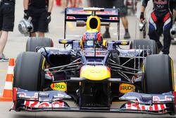 Mark Webber, Red Bull Racing with sensor equipment