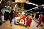 Pit stop for #2 Audi Sport Team Joest Audi R18 E-Tron Quattro: Rinaldo Capello, Tom Kristensen, Allan McNish