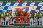 LMGTE Pro podium: class winners Giancarlo Fisichella, Gianmaria Bruni, Toni Vilander, second place Frederic Makowiecki, Jaime Melo, Dominik Farnbacher, third place Stefan Mcke, Adrian Fernandez, Darren Turner