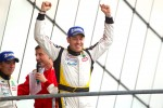 LMGTE Am podium: class winner Julien Canal