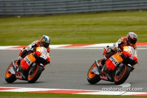 Casey Stoner, Repsol Honda Team and Dani Pedrosa, Repsol Honda Team