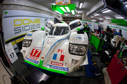 #17 Pescarolo Team Dome Judd in the garage