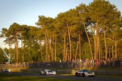 #75 Prospeed Competition Porsche 911 RSR: Abdulaziz Al Faisal, Bret Curtis, Sean Edwards and #17 Pescarolo Team Dome Judd: Nicolas Minassian, Seiji Ara, Sébastien Bourdais