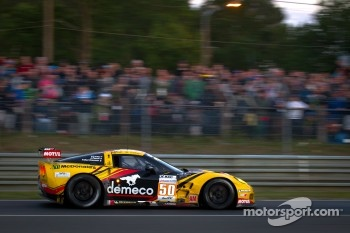 #50 Larbre Competition Chevrolet Corvette C6 ZR1: Patrick Bornhauser, Julien Canal, Pedro Lamy