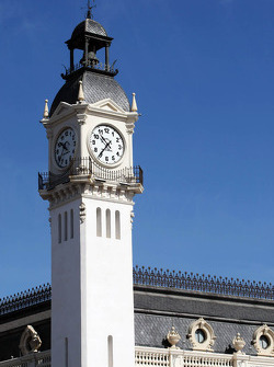 Clock tower overlooking the paddock