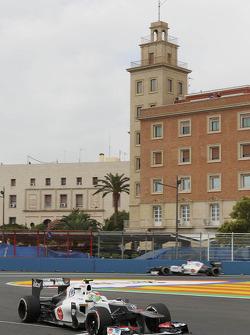 Sergio Perez, Sauber and Kamui Kobayashi, Sauber