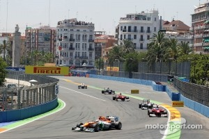 Formula One race at Valencia