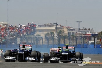 Pastor Maldonado, Williams and Bruno Senna, Williams