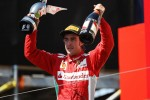 Race winner Fernando Alonso, Ferrari celebrates on the podium