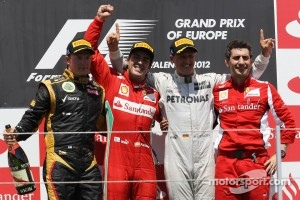 2012 European Grand Prix podium