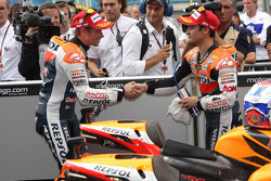 Race winner Casey Stoner, Repsol Honda Team, Dani Pedrosa, Repsol Honda Team