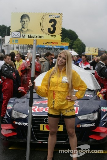 Grid girl of Mattias Ekstrm, Audi Sport Team Abt Sportsline, Audi A5 DTM