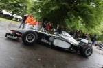 Nick Heidfeld drives a classic McLaren