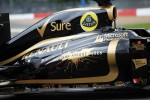Batman film the Dark Knight Rises branding on the Lotus F1 E20