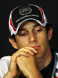 Bruno Senna, Williams in the FIA Press Conference
