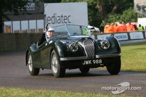 Stirling Moss in Jaguar XK120