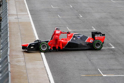 Timo Glock, Marussia F1 Team spins out of qualifying