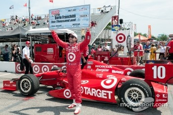 Pole winner Dario Franchitti