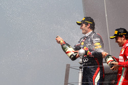 1st place Mark Webber, Red Bull Racing and Fernando Alonso, Scuderia Ferrari