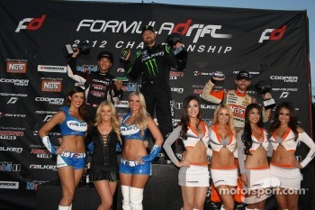 Podium: winner Vaughn Gittin Jr., second place Daijiro Yoshihara, third place Chris Forsberg