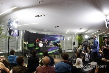Pressconference, Timo Glock, Marussia F1 Team, Nico Rosberg, Mercedes GP, Mark Webber, Red Bull Racing, Sebastian Vettel, Red Bull Racing, Nico Hulkenberg, Sahara Force India Formula One Team, Michael Schumacher, Mercedes GP