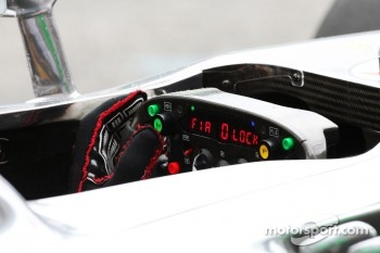 McLaren steering wheel for Lewis Hamilton, McLaren