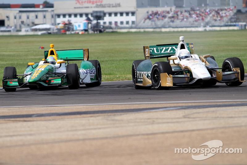 Ed Carpenter, Ed Carpenter Racing Chevrolet and Simona de Silvestro, HVM Racing Lotus