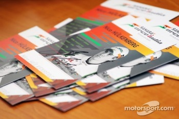 Signed autograph cards of Nico Hulkenberg, Sahara Force India F1