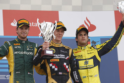Podium: race winner James Calado, second place Giedo Van der Garde, third place Felipe Nasr