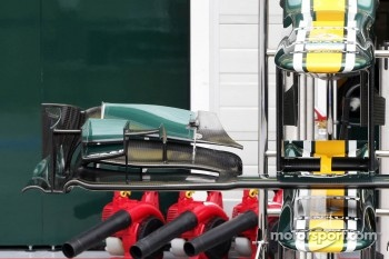 Caterham CT01 front wing detail