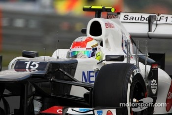 Sergio Perez, Sauber running sensor equipment