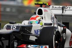 Sergio Perez, Sauber running sensor equipment