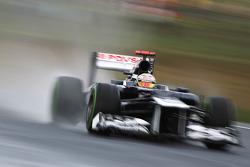 Pastor Maldonado, Williams in the wet