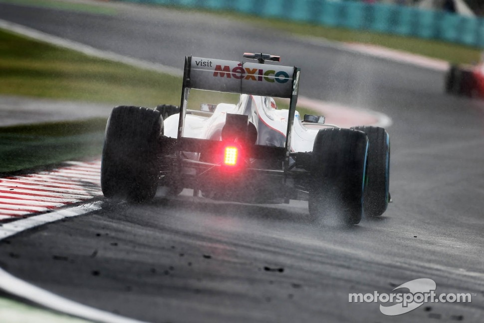 Kamui Kobayashi, Sauber in the wet