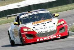 #42 Team Sahlen Mazda RX-8: Dane Cameron, Joe Nonnamaker, Will Nonnamaker