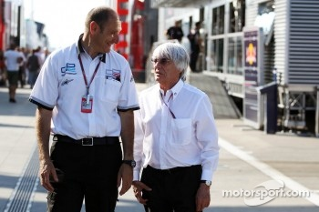 Bruno Michel, GP2 CEO with Bernie Ecclestone, CEO Formula One Group