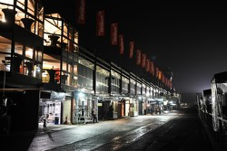 Endurance Pits by night