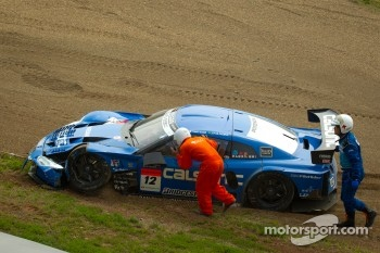 #12 Team Impul Nissan GT-R after the start crash
