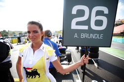 Grid girl of  Alex Brundle