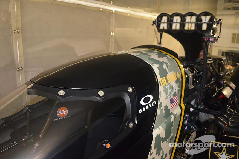 The canopy on Tony Schumacher's Top Fuel