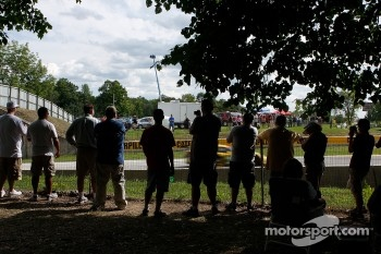 Fans watching the race.