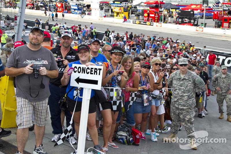 Fans during pre-race